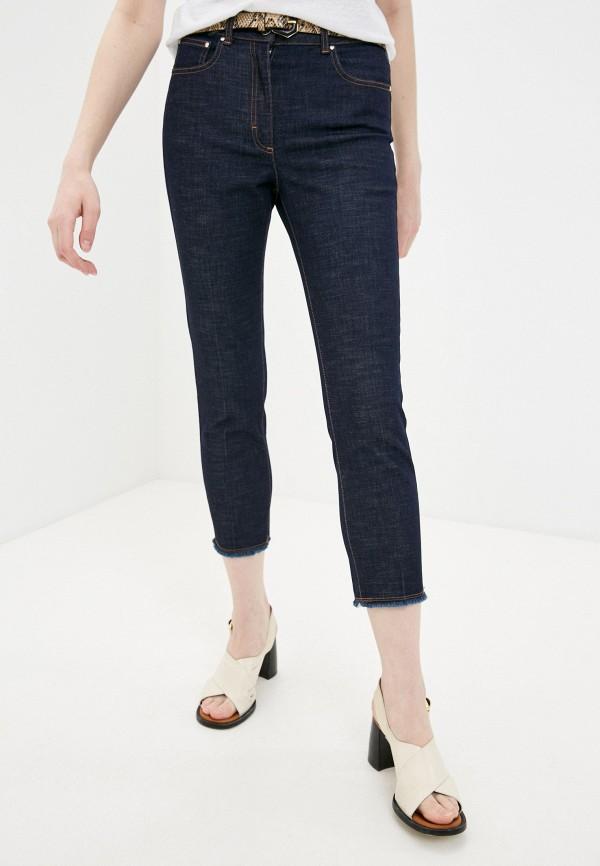 женские джинсы скинни cappellini, синие