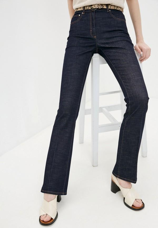 женские джинсы клеш cappellini, синие