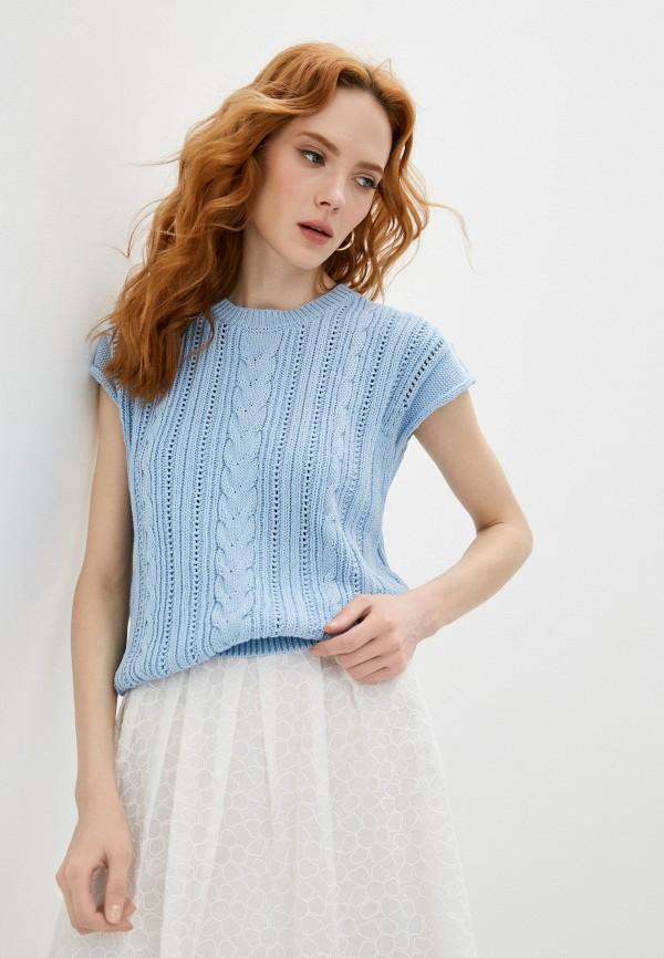 женский джемпер cappellini, голубой