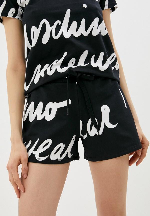 женские спортивные шорты moschino underwear, черные