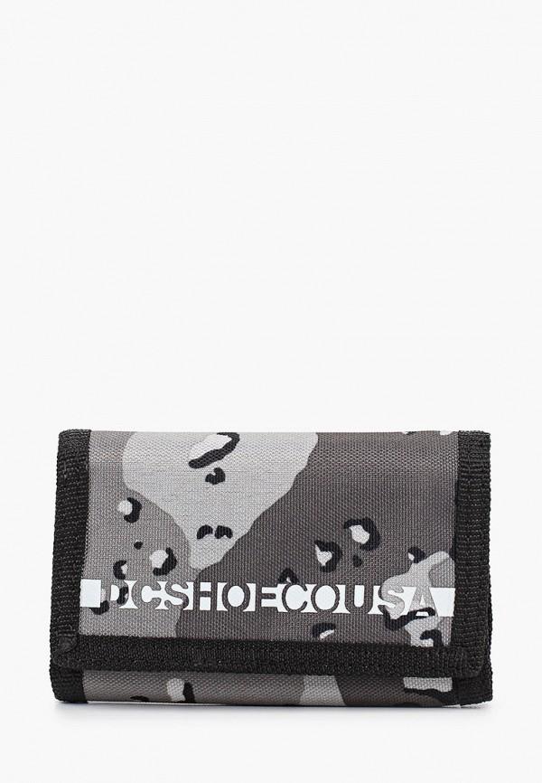мужской кошелёк dc shoes, серый