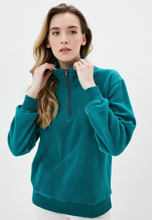 женская олимпийка quiksilver, зеленая