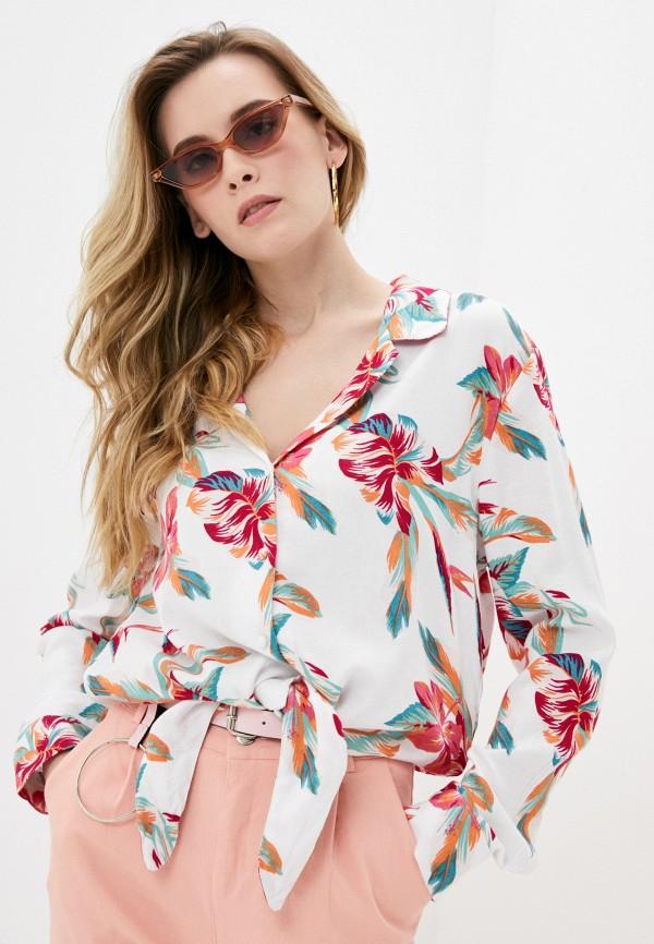 женская блузка roxy, белая