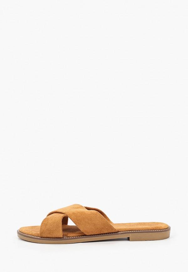 женское сабо ideal shoes, коричневое