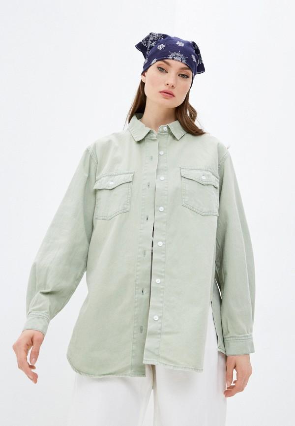 женская джинсовые рубашка missguided, зеленая