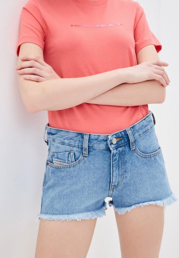 женские джинсовые шорты diesel, синие