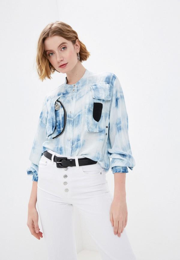 женская блузка с длинным рукавом diesel, синяя