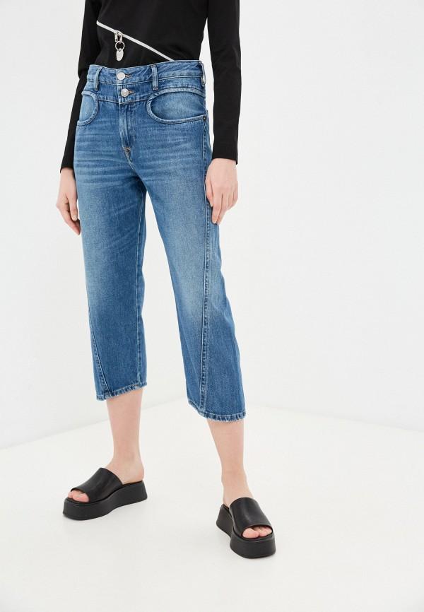 женские прямые джинсы diesel, синие