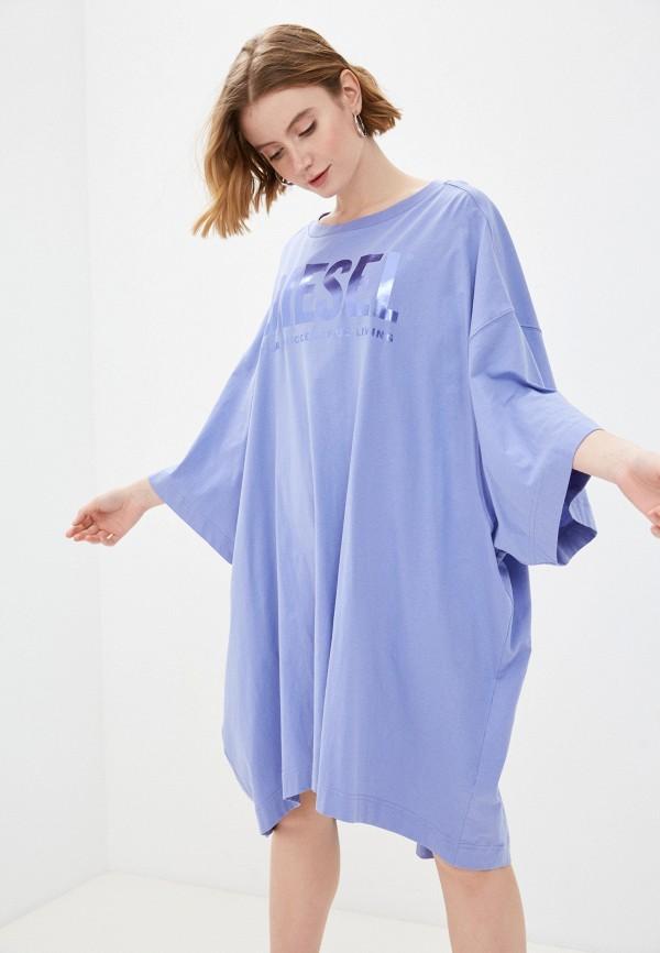 женское платье-футболки diesel, фиолетовое