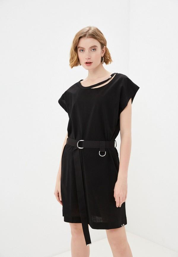 женское платье-футболки diesel, черное