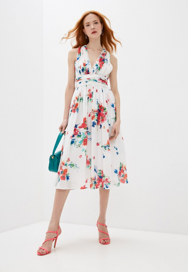 женское повседневные платье boutique moschino, белое