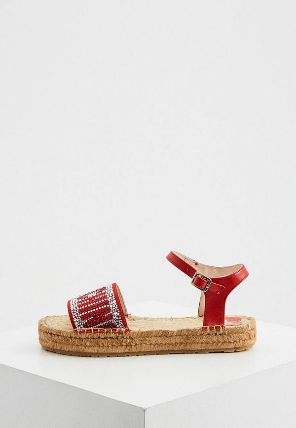 женские сандалии love moschino, красные