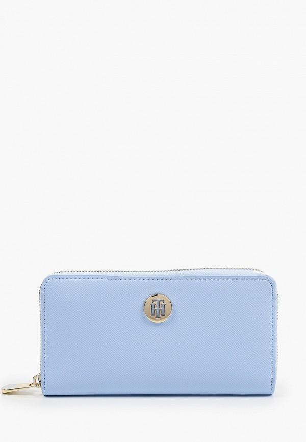 женский кошелёк tommy hilfiger, голубой