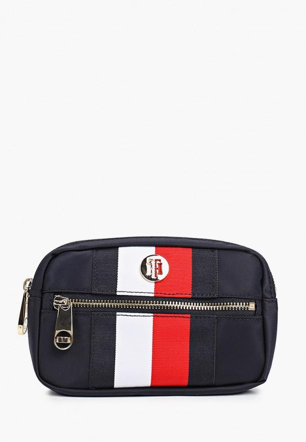 женская поясные сумка tommy hilfiger, синяя