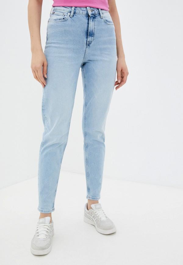 женские джинсы скинни tommy hilfiger, голубые