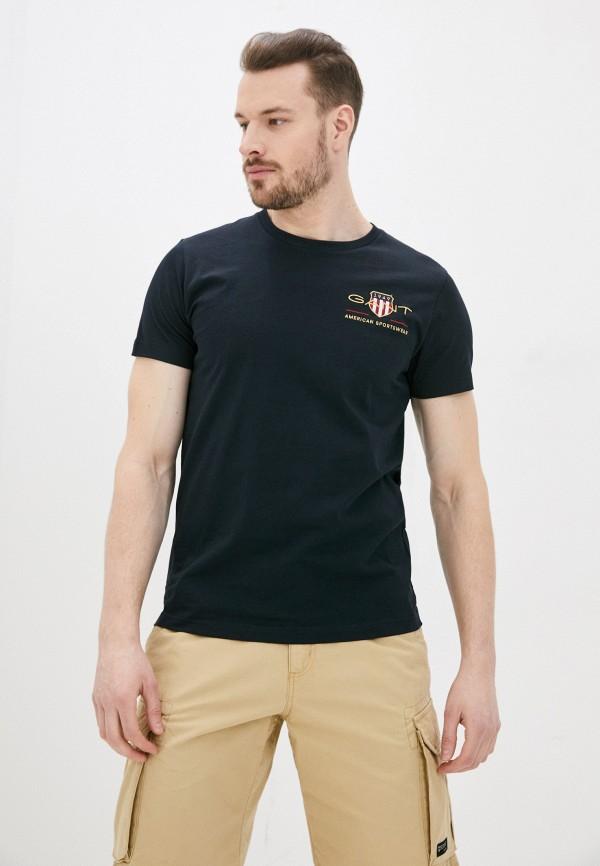 мужская футболка gant, черная