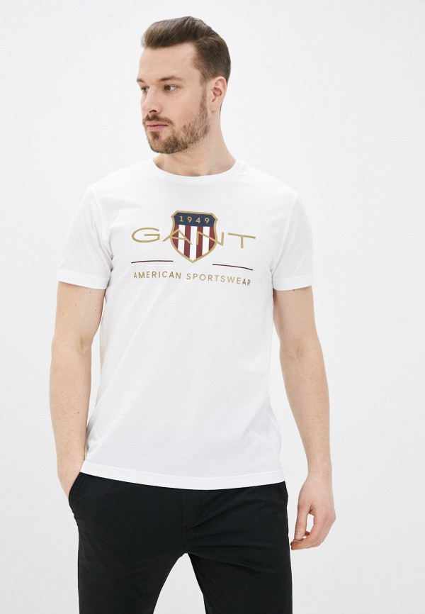 мужская футболка gant, белая