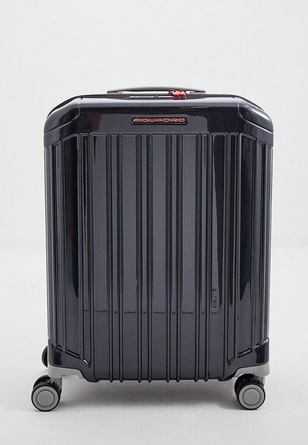 женский чемодан piquadro, серый