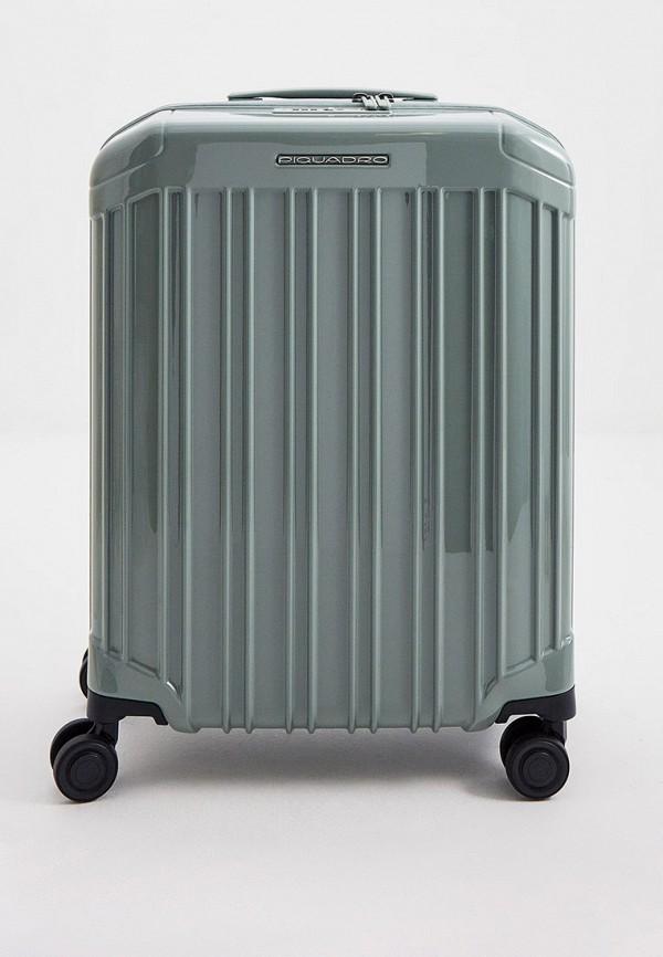 женский чемодан piquadro, зеленый
