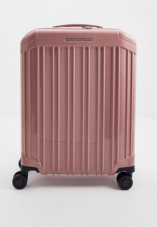 женский чемодан piquadro, розовый