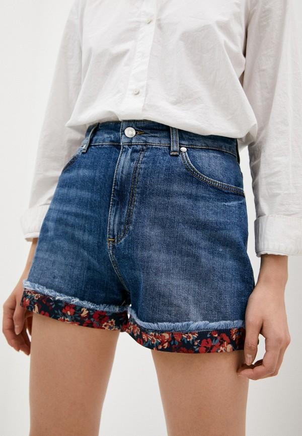 женские джинсовые шорты liu jo, синие