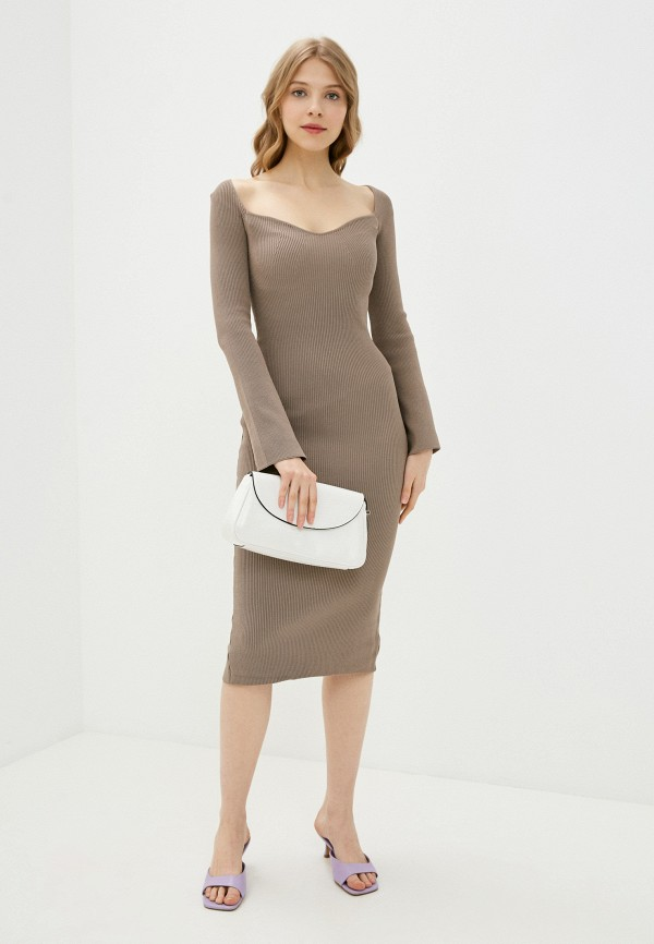 женское платье-футляр imocean, бежевое