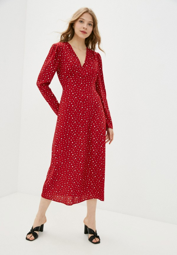 женское повседневные платье imocean, красное