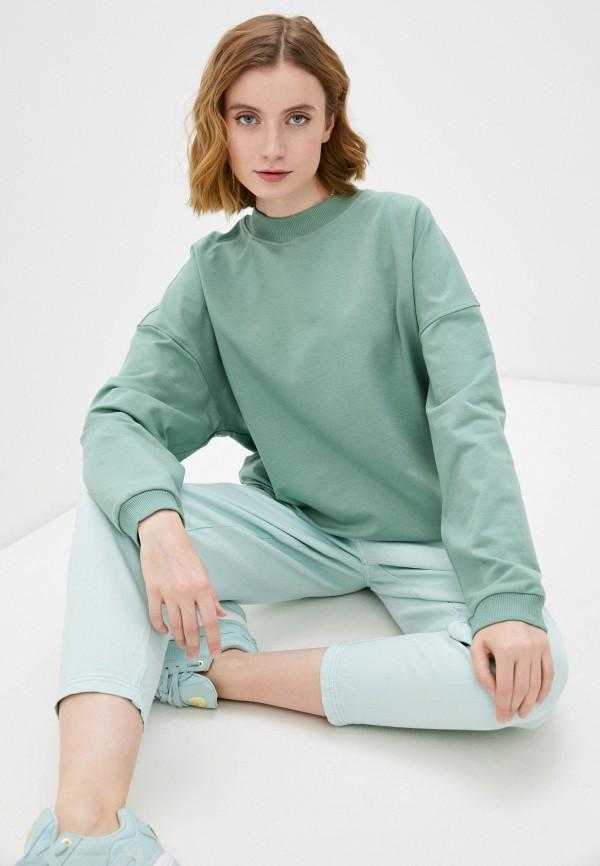 женский свитшот imocean, зеленый