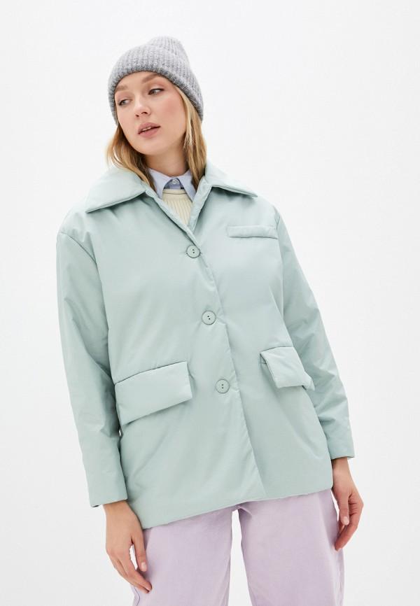женская утепленные куртка imocean, бирюзовая