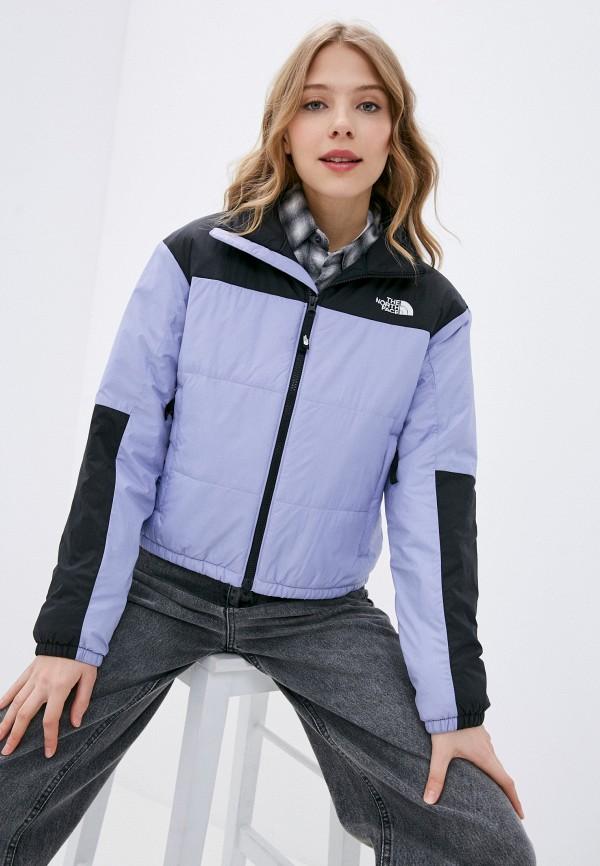 женская спортивные куртка the north face, фиолетовая