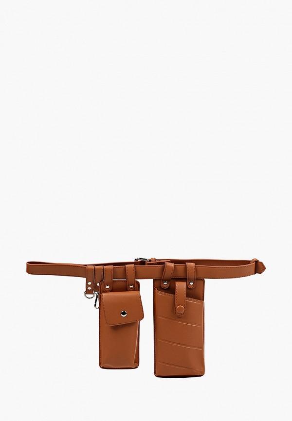 женская поясные сумка pinkkarrot, коричневая
