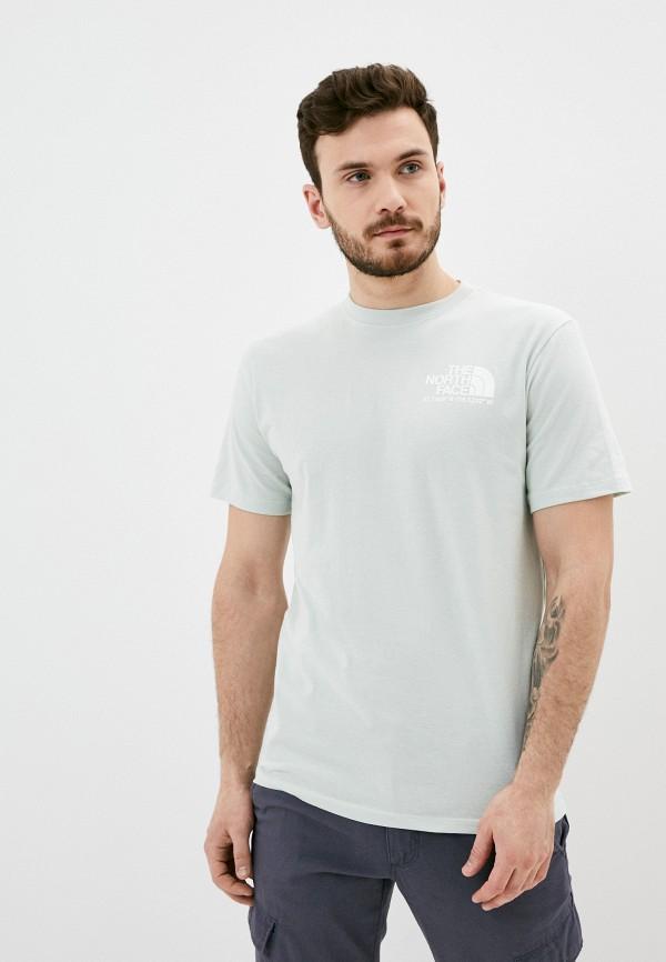 мужская спортивные футболка the north face, зеленая