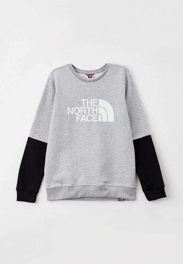 свитшот the north face малыши, серый