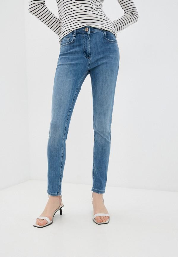 женские джинсы скинни pennyblack, голубые