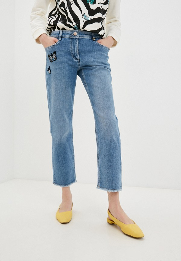 женские прямые джинсы pennyblack, голубые