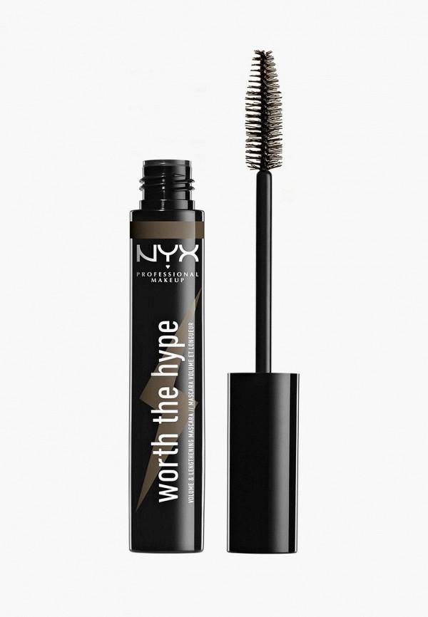 женский тушь для ресниц nyx professional makeup, коричневый