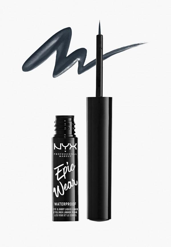 женский подводка для глаз nyx professional makeup, серый