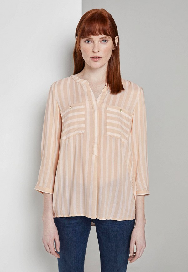 женская блузка с длинным рукавом tom tailor