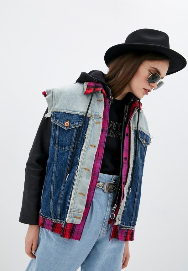 женская джинсовые куртка diesel, разноцветная