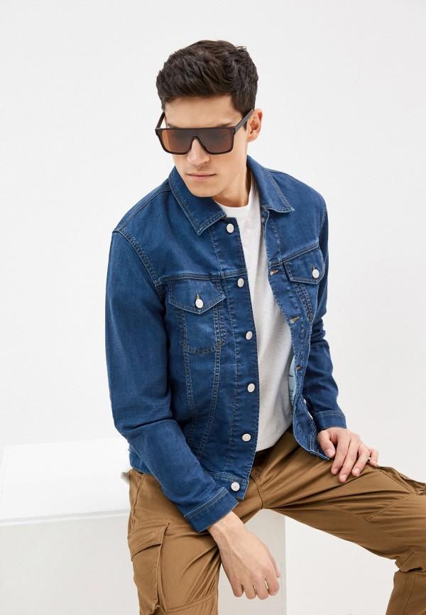 мужская джинсовые куртка diesel, синяя