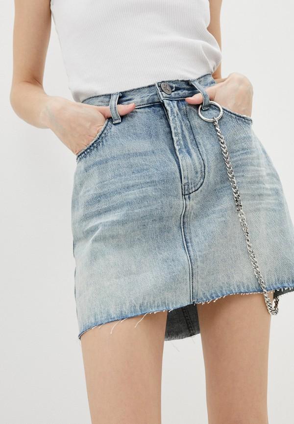 женская джинсовые юбка one teaspoon, голубая