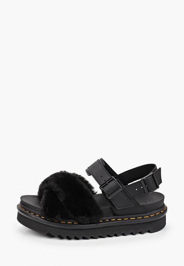 женские сандалии dr. martens, черные