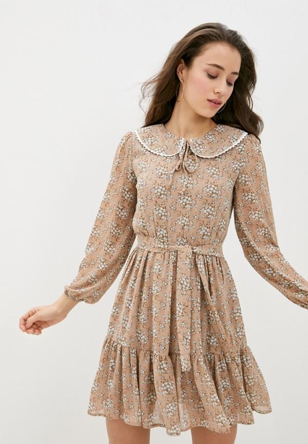 женское повседневные платье rainrain, бежевое