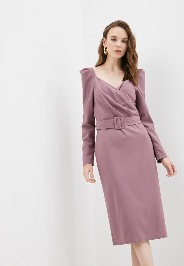 женское платье с запахом rainrain, фиолетовое