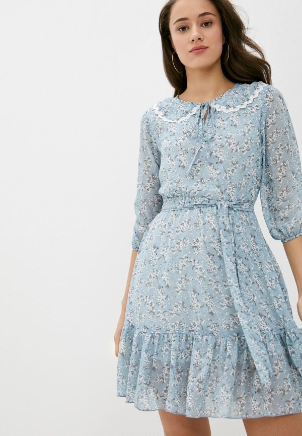 женское повседневные платье rainrain, голубое