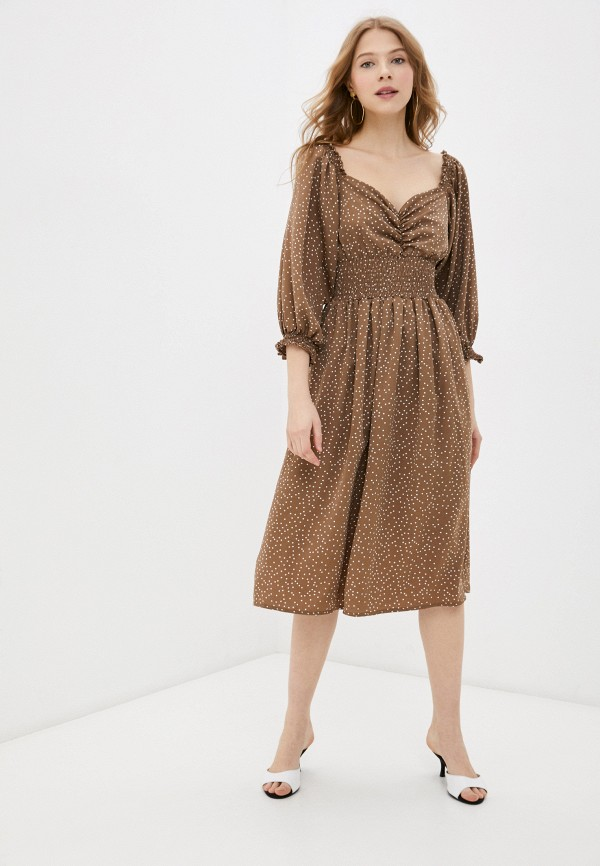 женское повседневные платье rainrain, коричневое