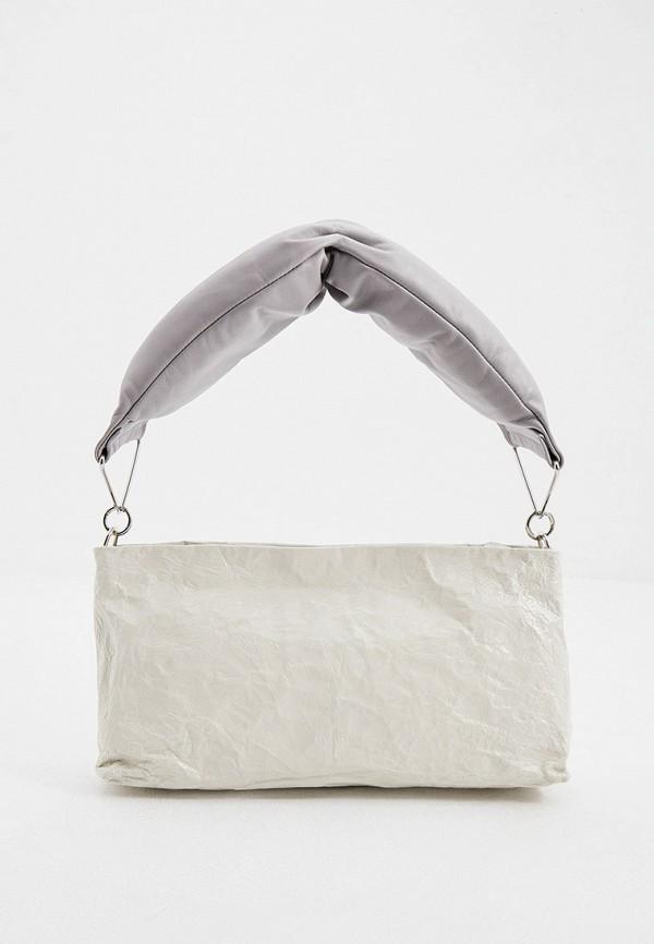 женская сумка с ручками sportmax, белая