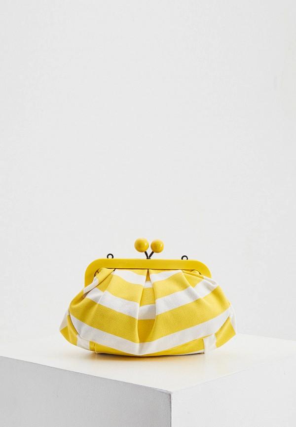 женская сумка через плечо weekend by max mara, желтая