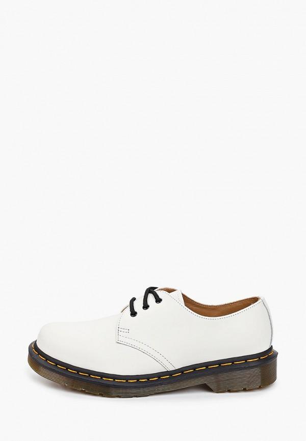 женские низкие ботинки dr. martens, белые