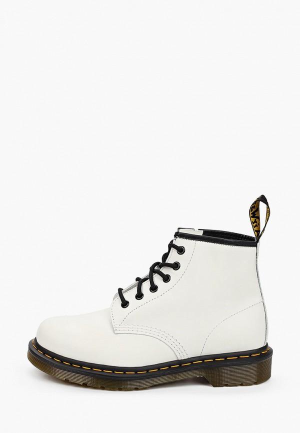 женские высокие ботинки dr. martens, белые